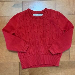 Hope and Henry cable knit sweater